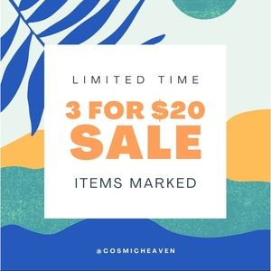 Read: 3 for $20 SALE